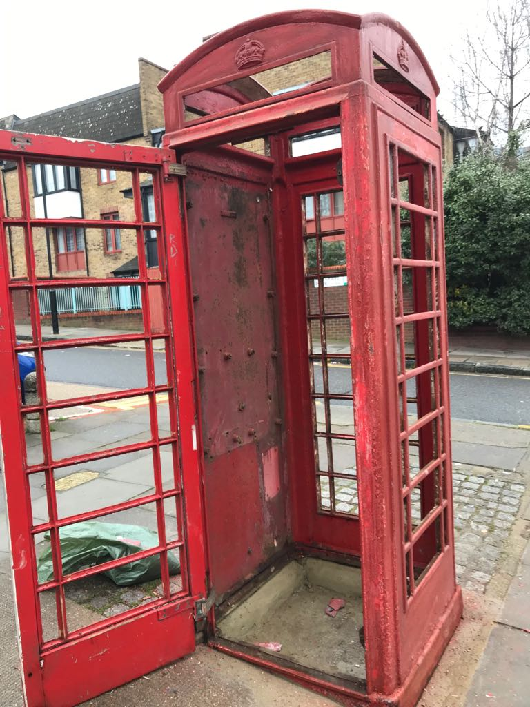 Red Telephone Box Before