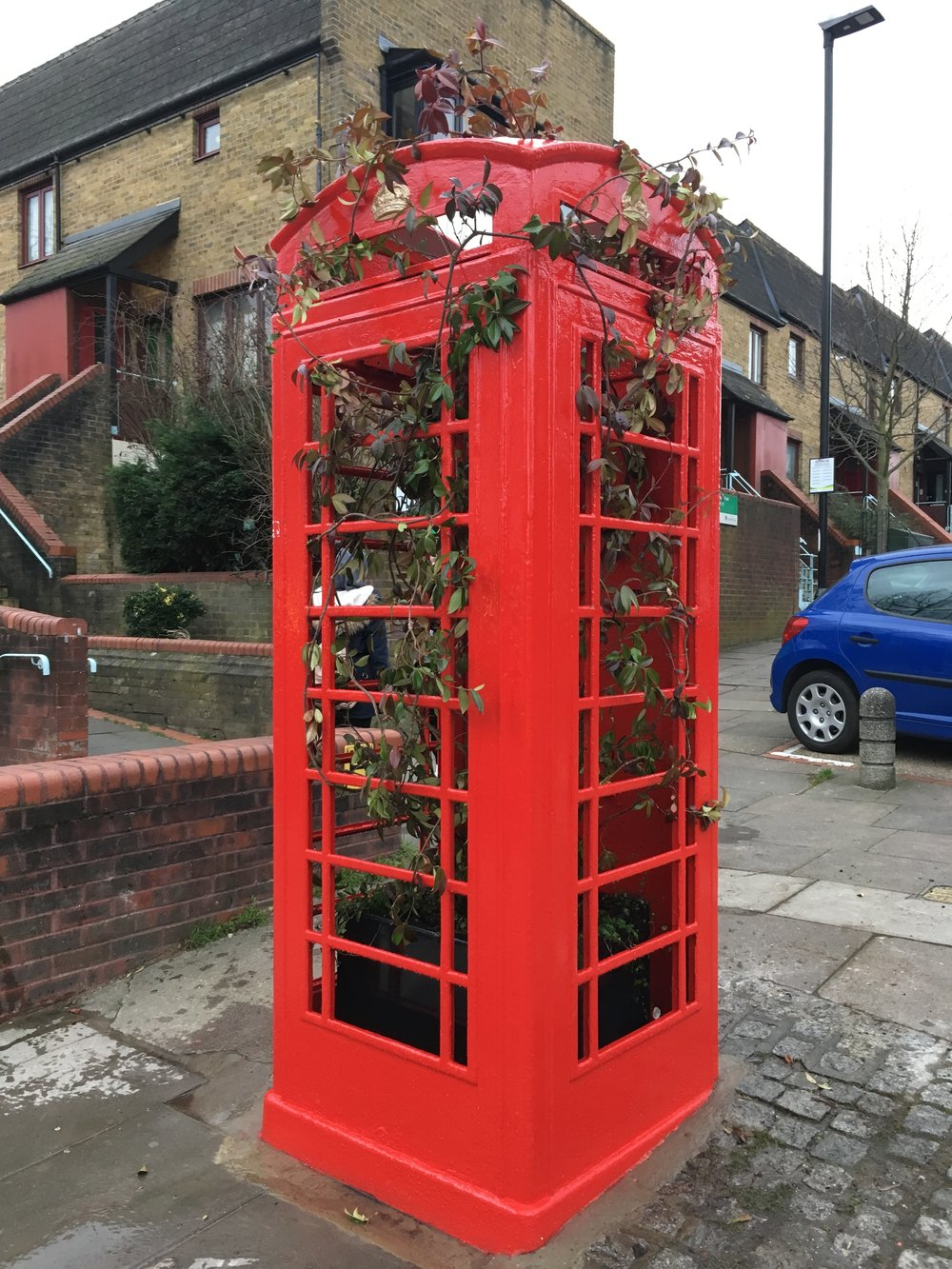 Greening Red Telephone Box