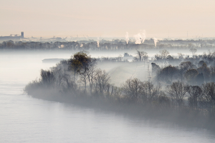 Mist Shrouded River