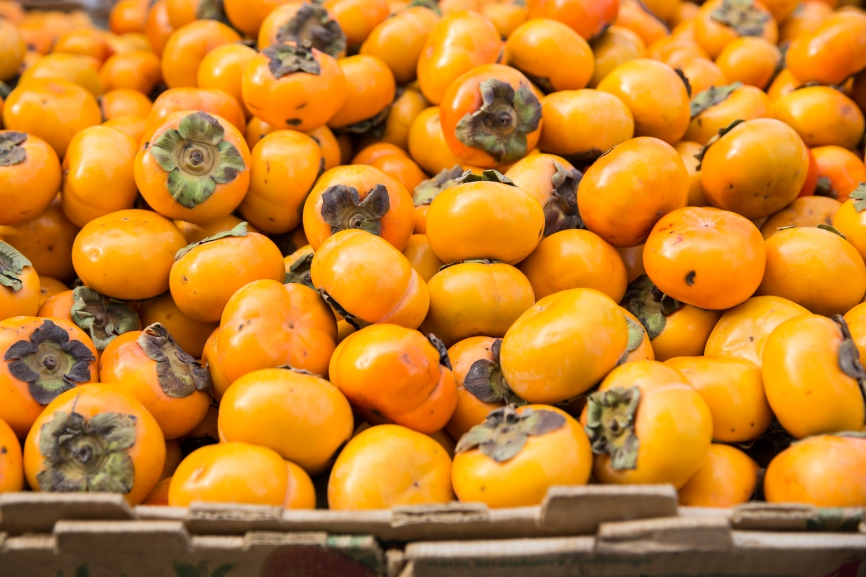 Persimmons for sale at farmer's market