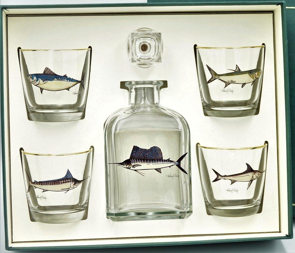 game fish decanter