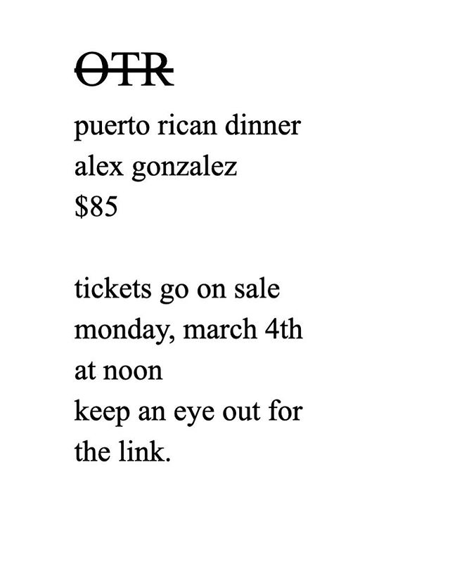 You know the drill. Tickets on sale Monday, March 4th at 12:00 pm  @ubermunch