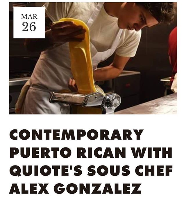 Tuesday, March 26th, is our upcoming Off the Record dinner with Quiote Sous Chef Alex Gonzalez (@ubermunch) A night of contemporary Puerto Rican dishes.  Swipe ➡️ for menu  Ticket link in bio!!
