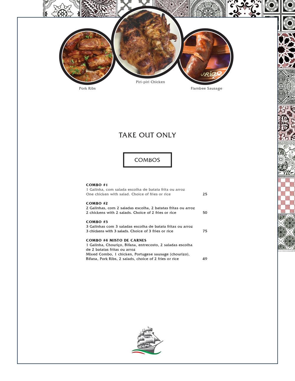 Caravela Restaurante Ottawa Menu