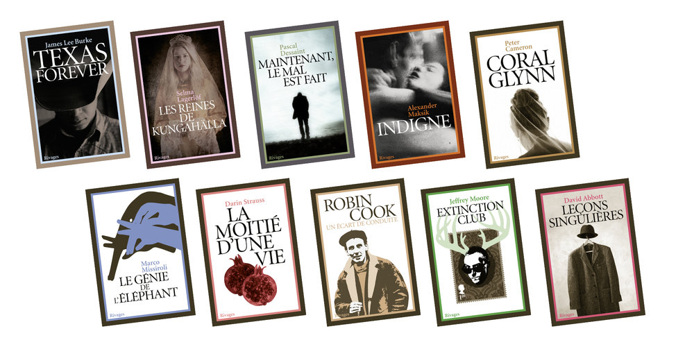 Éditions RivagesForeign Fiction - Creative Direction, Bookline Concept, Cover and Book Design.Client: Payot-Rivages