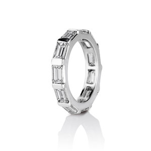 BAGUETTE DIAMOND ETERNITY WEDDING BAND IN PLATINUM — David Alan ...