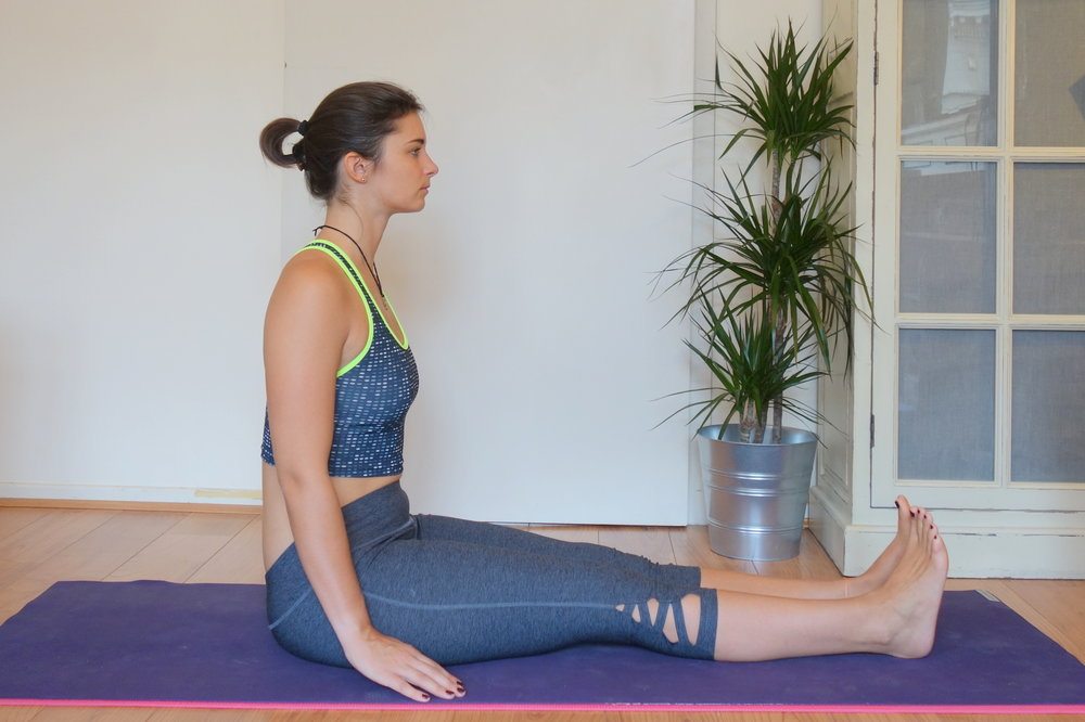 If you're falling back in this position, stretching your hamstrings this way could damage your back