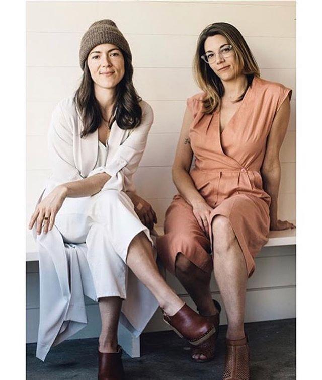 """Vegan ice cream's most influential duo"" #cloglife @autumnlexilee @ashleyoutside"