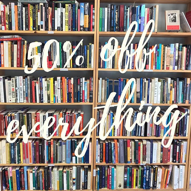Our closing sale continues! 50% off everything in the store starting today!  #sale #wsnc #dtws