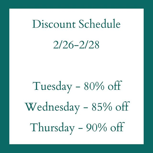 Bright Leaf Books will close on Thursday, February 28. Our closing sale discounts will increase each day this week.