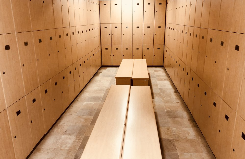 disinfecting locker rooms