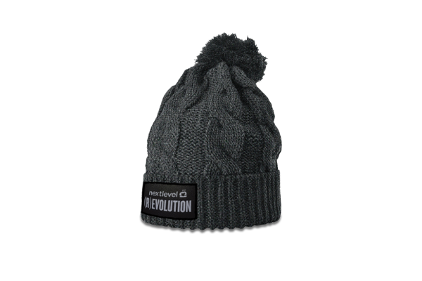 (R)EVOLUTION Beanie (pom-pom charcoal)