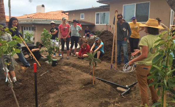 From our workshop collaboration last year with The Ecology Center's Permaculture Design Course and H2OME.  Earth Steward Ecology helped design and prepare systems to capture greywater from a shower with a fruit orchard, rain barrel overflow, and laundry to landscape greywater.