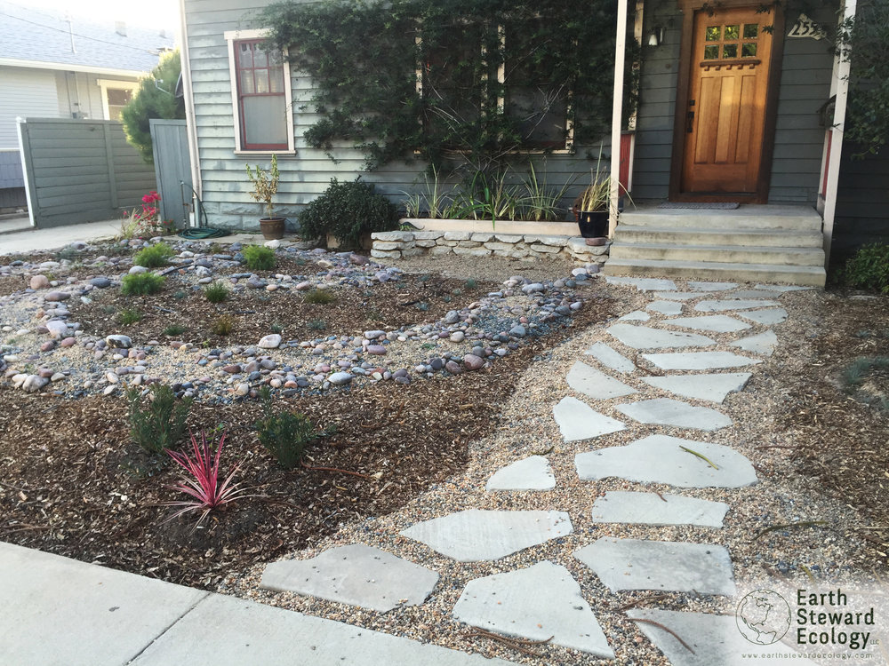 Urbanite Leading To The Front Door Creates A Permeable And Sustainable  Pathway.