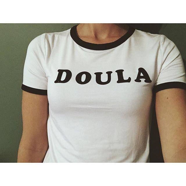 "Made some ""work"" shirts. . . . . #iamdoula #dti #doulalove #doulatrainingsinternational #thedouladate #doula"