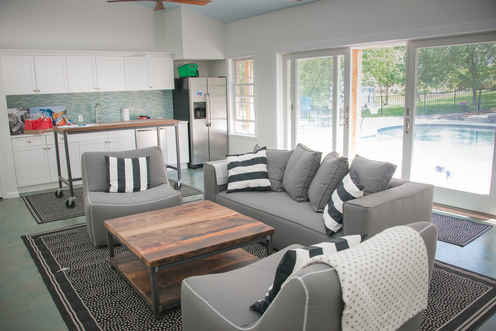 All Of The Furniture And Finishes Are Waterproof And Kid Friendly, Which  Was The Clients