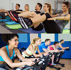 This class is a combination of high intensity intervals on the spin bike, followed by deep core work on the mats inspired by the method of Pilates. This sweaty workout will condition your body from the inside out. Created by Inspired Fitness Trainers, the format of this class starts on the bike with high intensity intervals that will build full body strength, stamina and tone, followed by deep core movement and stability activation. With attention to detail and form, this class will cover all your bodies fitness demands. -