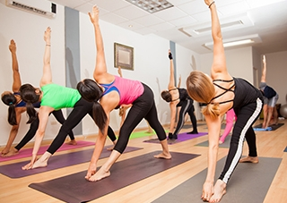 "INSPIRED POWER VINYASA - Moderately Heated (80-85). Familiarity with sun salutations recommended, but all-levels welcome. Don't let the word ""power"