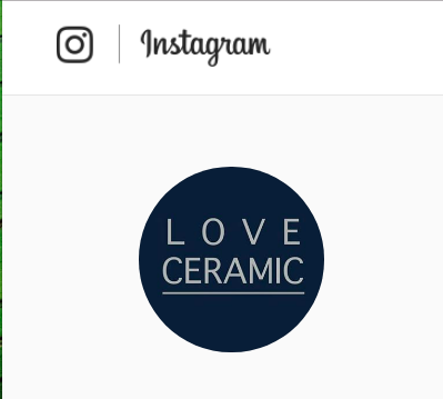LOVE CERAMIC  - With over 100k Instagram followers, Love Ceramic is one of the biggest and most tasteful pottery Instagrams out there. We've been featured now four times. Here's a link to our gray and white vases.