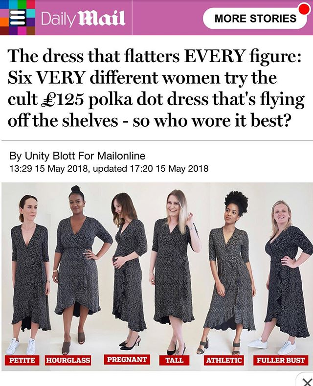 "Remember the dress we featured in our capsule yesterday? Well here's an article from @dailymail on ""the dress that flatters every figure"" shop now before it sells out. Link in bio - - ⠀ #inthepress #dailymail #everywoman #theworkwardrobe #womenwithstyle #chicworkchick #officestyle #officefashion #weartowork #instastyle #styleinspiration #fashionforward #womenwithstyle #ltkstyletkip #workstyle #abmstyle #chicwish #ltk #styleinfluencer #workoutfitideas #workfashion #dressforwork #officechic #officewear #fashiondiaries #corporatestyle #workweardaily"