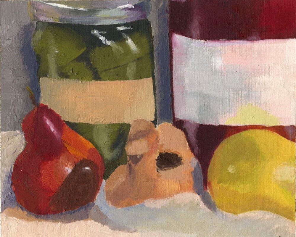 Observational painting of various objects -- Oil paint