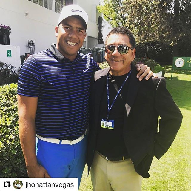 Awesome seeing my good friend @jhonattanvegas today @wgcmexico 🇲🇽🇲🇽🇲🇽