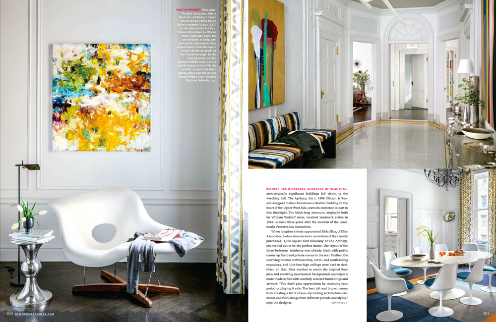 Color Confidence, NY Spaces Magazine, Silves Artwork, pages 50-51