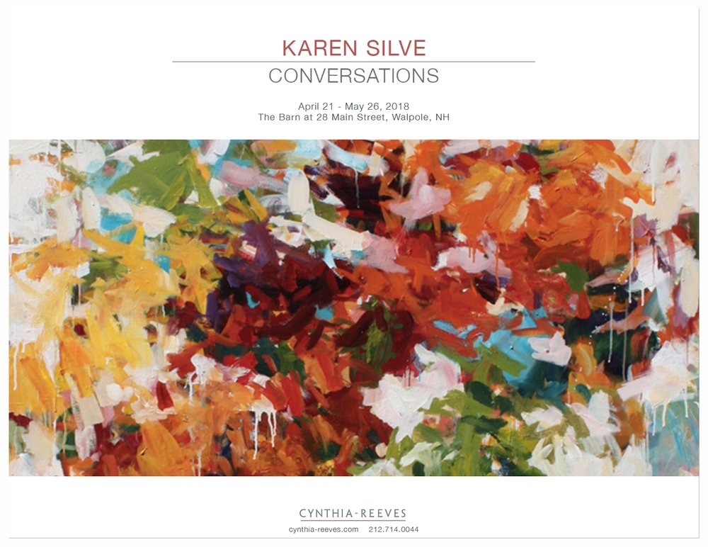 — Karen Silve: Conversations, April 2018  Exhibition Catalog by CYNTHIA-REEVES