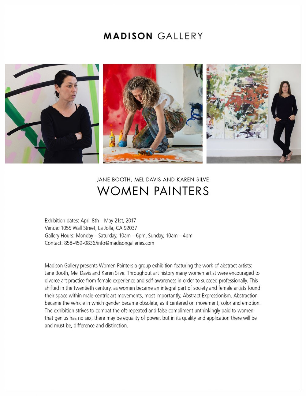 — Press Release: Women Painters, April/May 2017