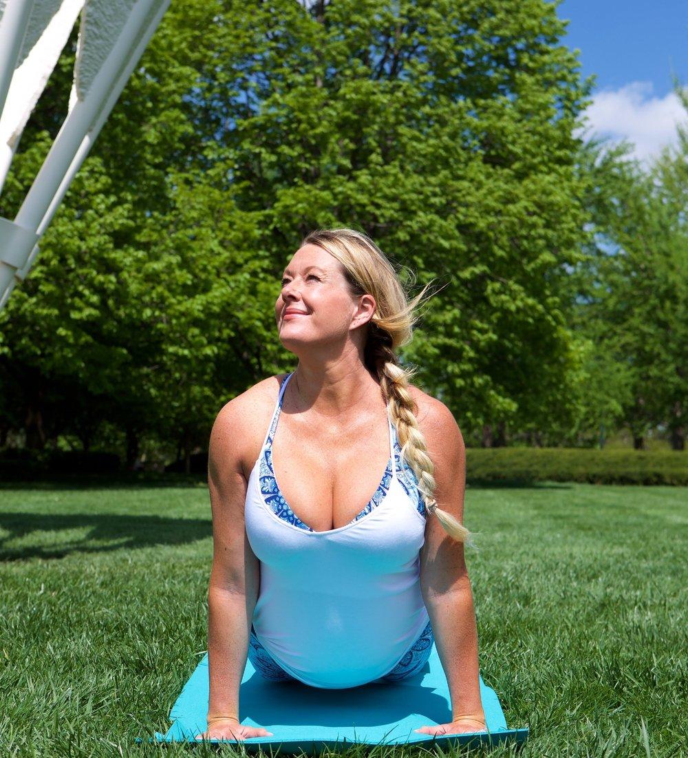 Outfit:  Helen Jon  Yoga Mat:  Jade Yoga