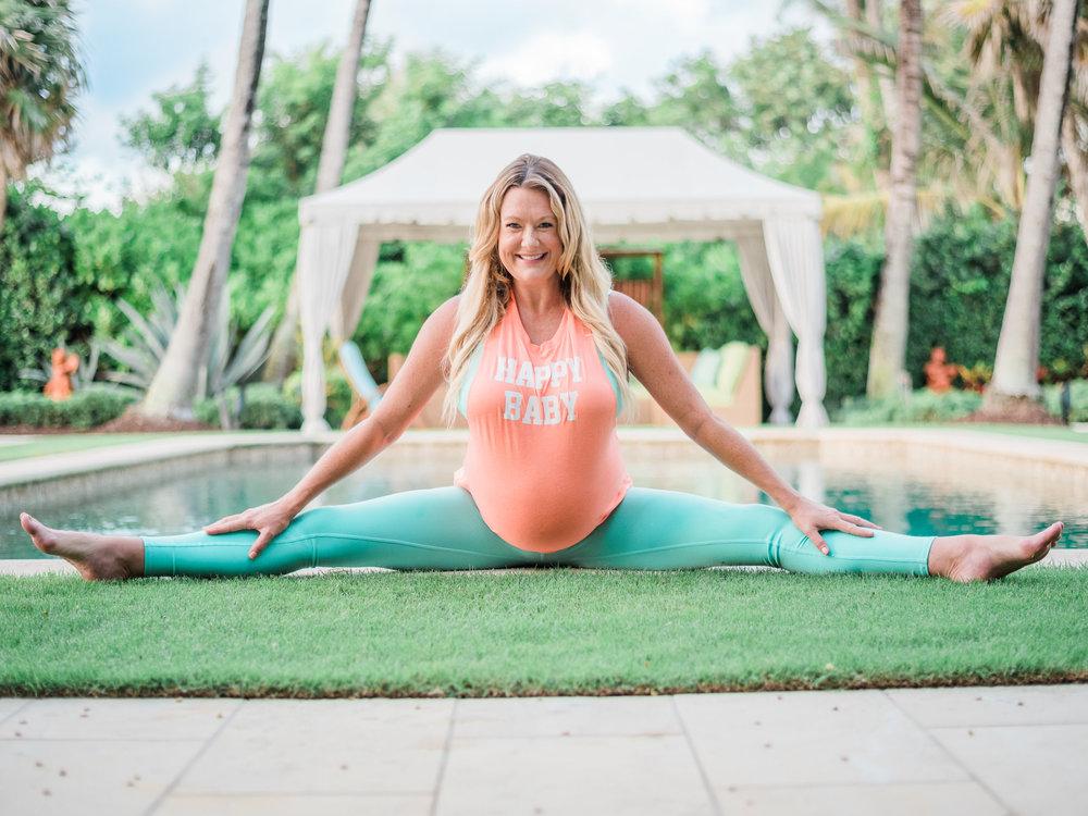 Outfit: Happy Baby Top & Pants  Alo Yoga  |  Nursing SportsBra  Bravado Designs *Check out their site. A pregnancy favorite of mine!