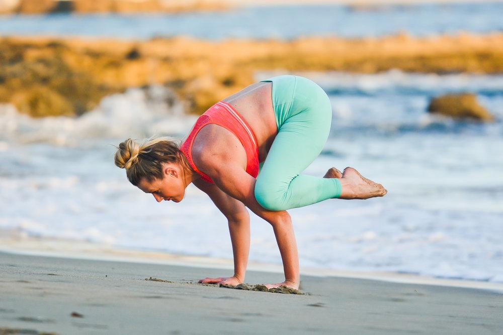 3 Months Post Pregnancy Photoshoot in  Laguna Beach, California.  Yoga Pants:  Alo Yoga  Sports Bra:  Victoria Secret Pink