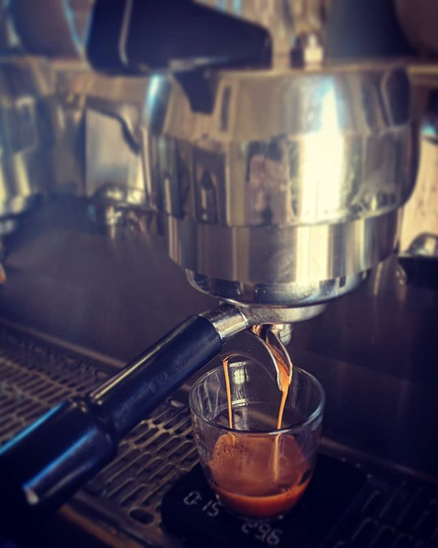 Poor Cyncra the coffee machine tried to call in sick this morning, but after some loving care and attention she is working like a dream! #synesso #coffeetime #castlemaine #sunday