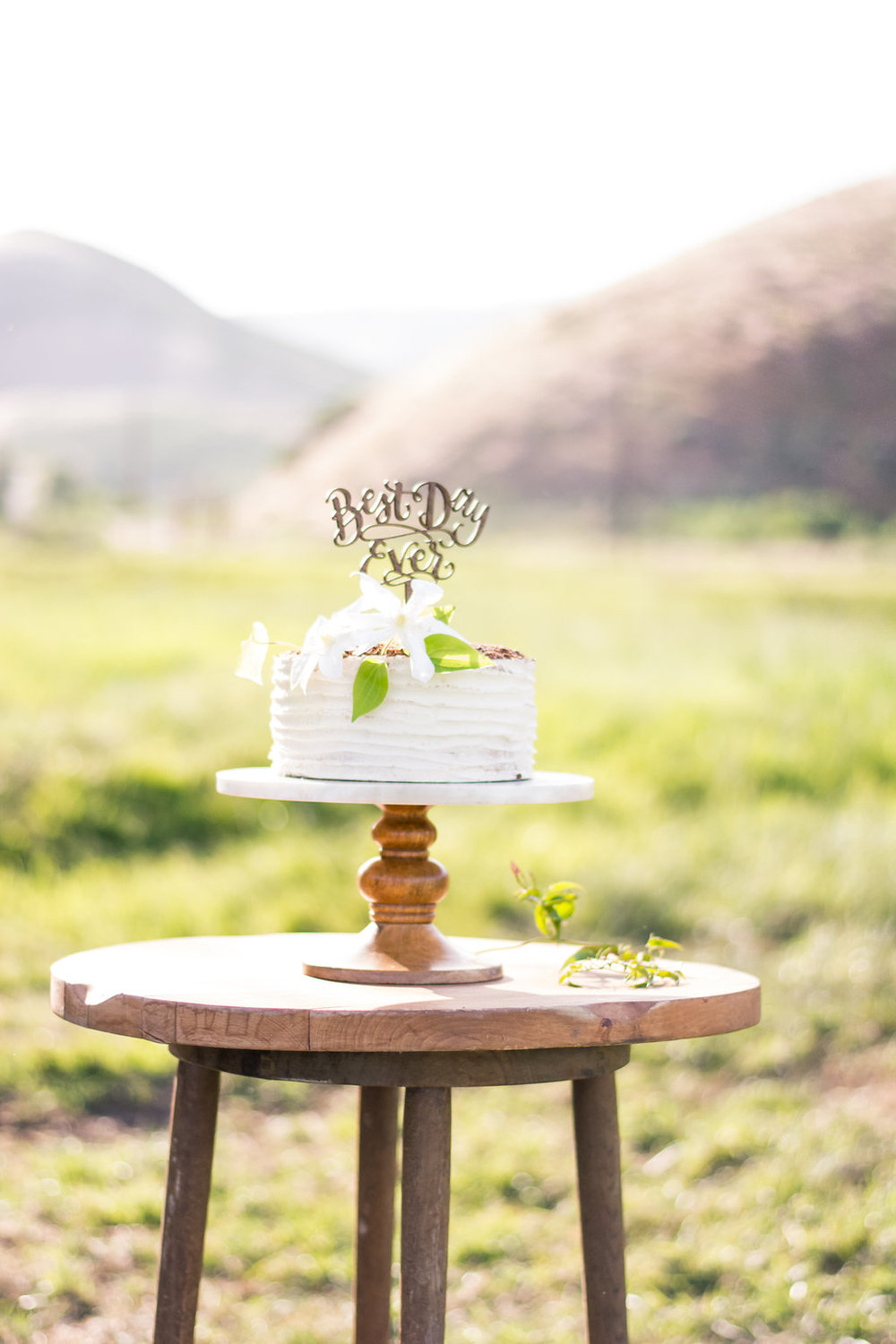$20.00 Studded tall rustic cake stand.