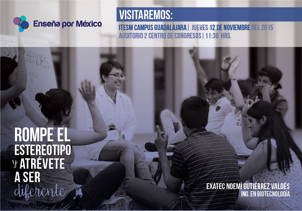 Enseña por México campaign flier aimed at attracting teachers from different disciplines.