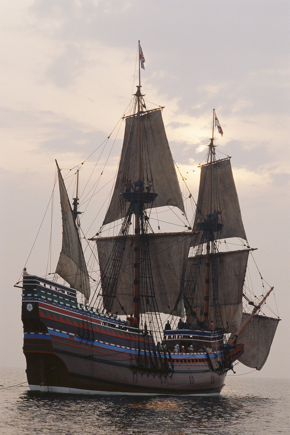 The Mayflower II is a replica of the original ship.