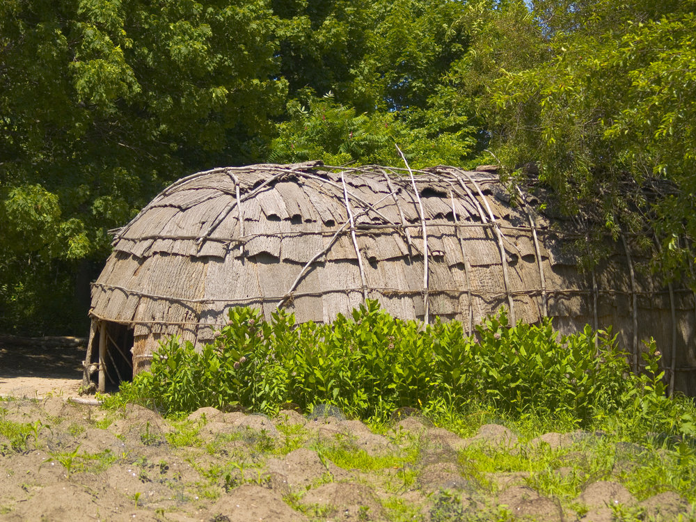 This is a replica of a traditional Wampanoag hut.
