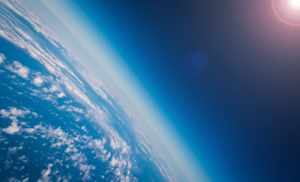 The ozone layer absorbs the ultraviolet rays from the Sun and turns them into heat.