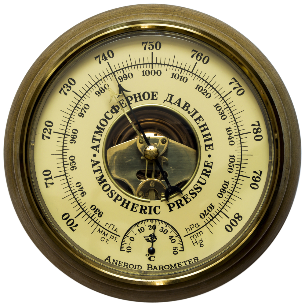 A barometer is used to measure air pressure.