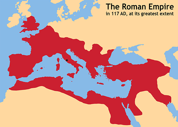 At its height, Rome controlled most of Europe.