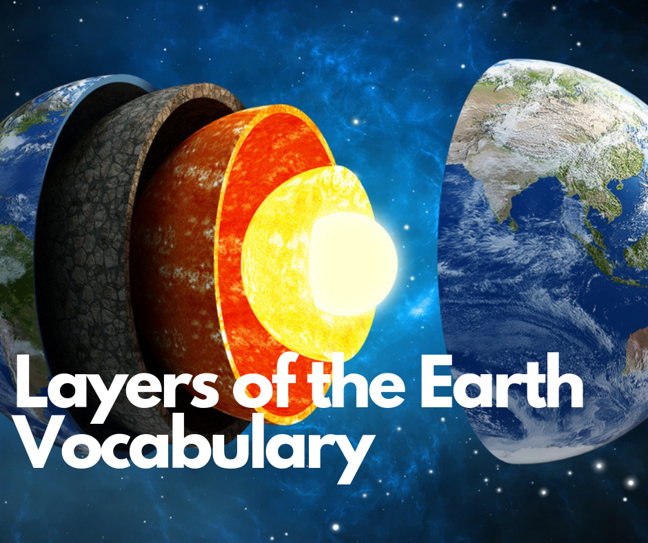 layers of the earth vocabulary