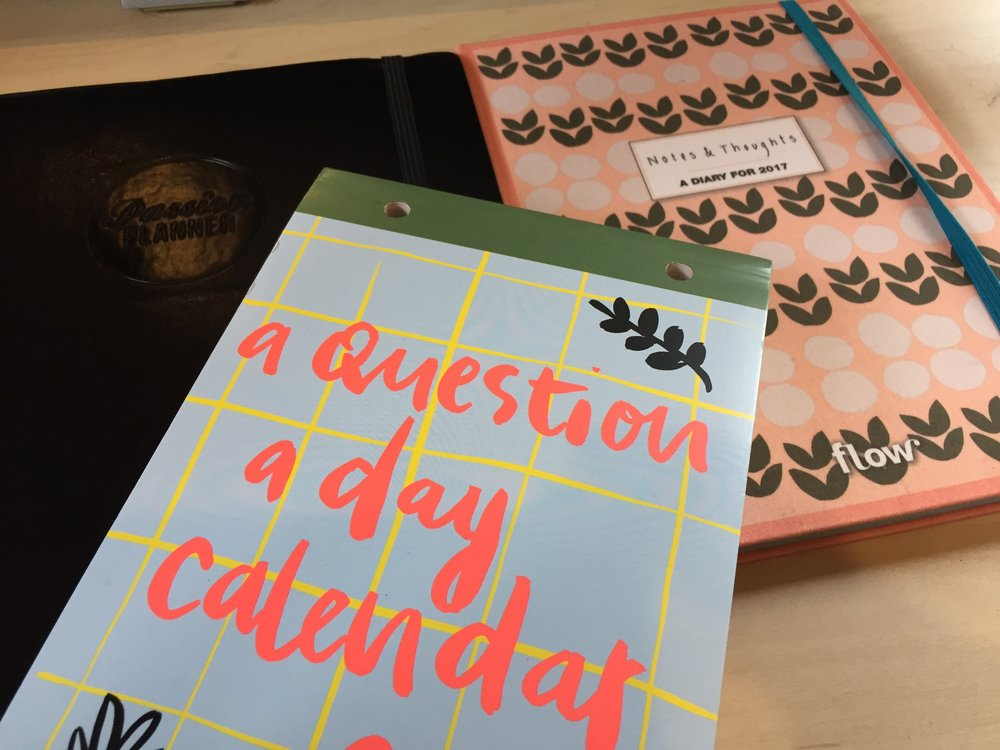 Passion Planner, Question a day and Diary by Flow
