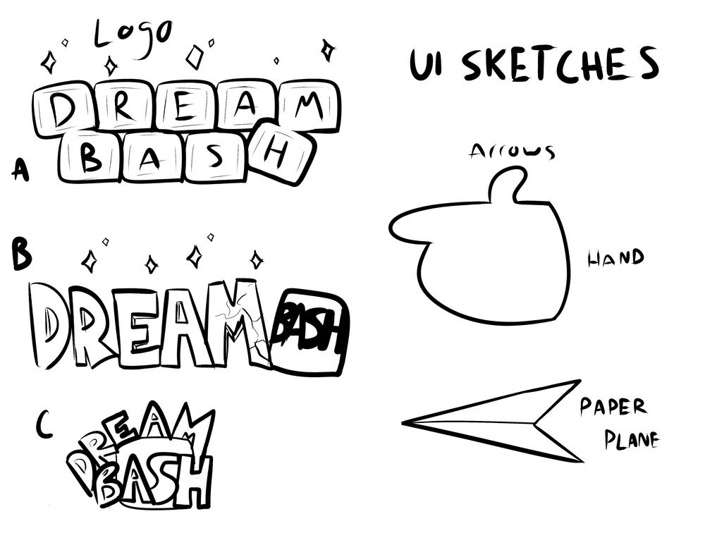 Logo + UI Arrow Sketches