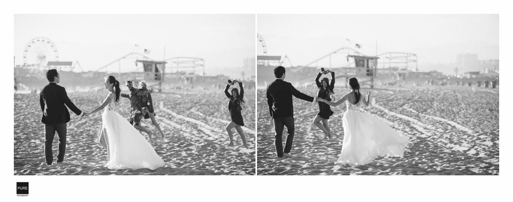 PUREFOTO_海外婚紗攝影Oversea_Prewedding_SantaMonica beach wedding