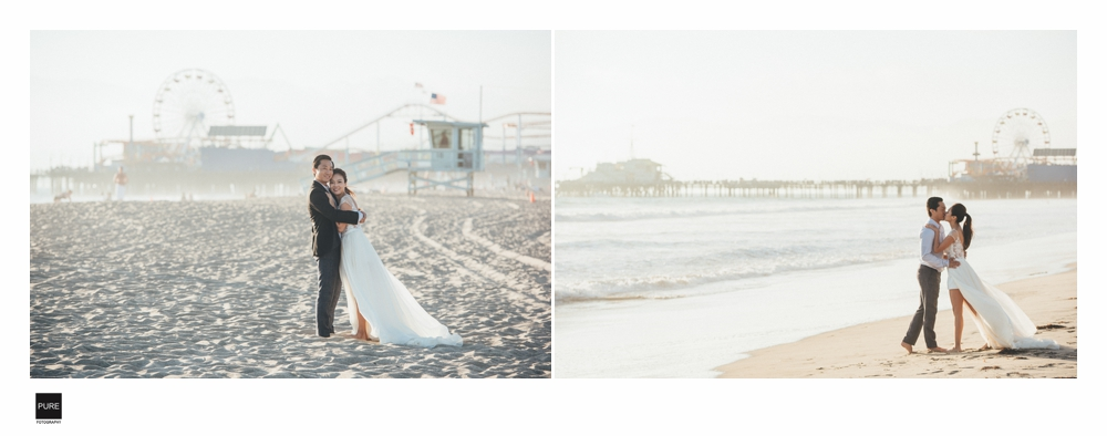 LA海外婚紗景點-Santa Monica Beach