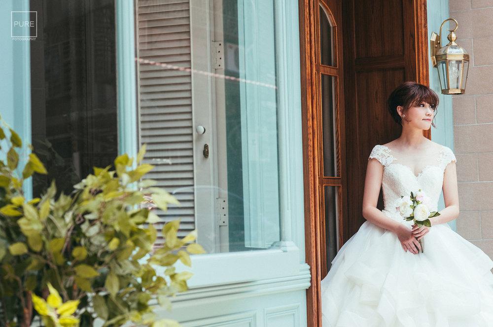 法式背景婚紗