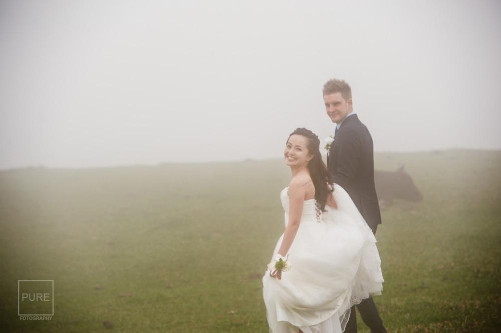 擎天岡雲霧繚繞婚紗照
