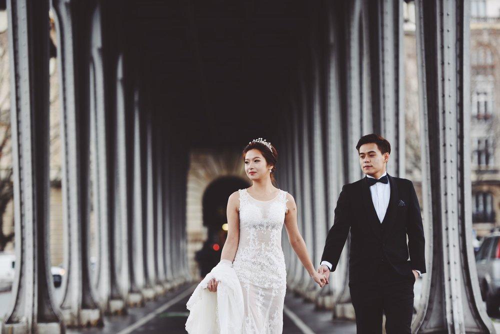 巴黎電影場景婚紗