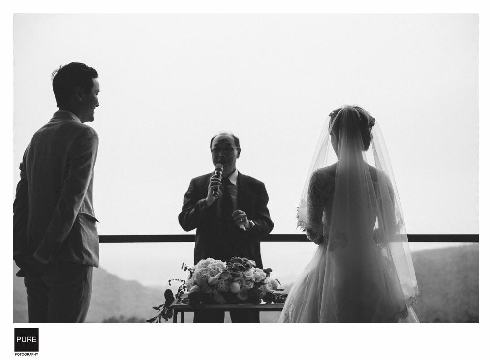 黑白色調婚禮攝影