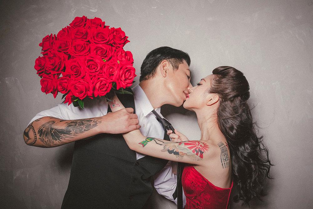 鮮紅玫瑰張莉婚紗